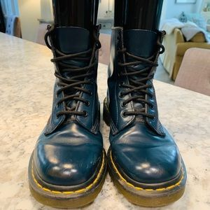Dr Doc Martens Leather Boots Size 7